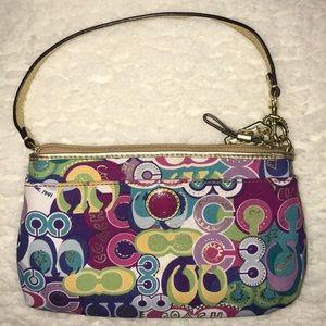 COACH multicolor clutch